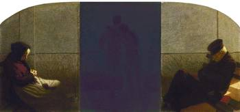 Angelo Morbelli~Dream and Reality (triptych)