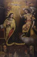 Anonymous~The Annunciation with Saint Gertrudis an