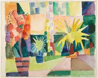 August Macke~Garden on Lake Thun (Pomegranate Tree