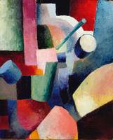 Auguste Mark~Colored Composition of Forms, 1914