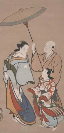 Baiōken Eishun~Courtesan in a Procession