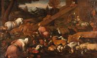 Bassano's Workshop~Entry of animals in Noah's ark