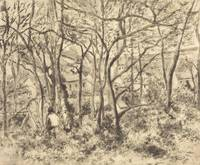 Camille Pissarro~Wooded Landscape at L'Hermitage,