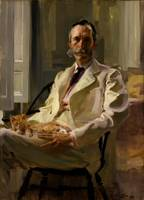 Cecilia Beaux~Man with the Cat (Henry Sturgis Drin