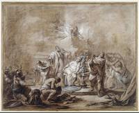 Charles-André van Loo~The Sacrifice of Iphigenia
