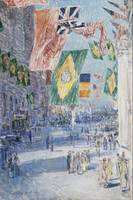 Childe Hassam~Avenue of the Allies Brazil, Belgium