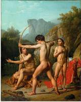 Christoffer Wilhelm Eckersberg~Three Spartan boys