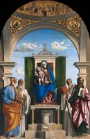 Cima da Conegliano~Enthroned Madonna with Child an
