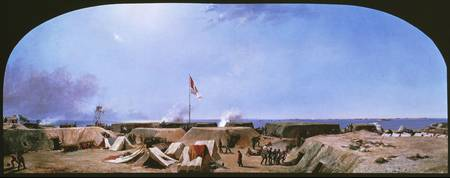 Conrad Wise Chapman~Bombardment of Fort Moultrie,