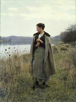 Daniel Ridgway Knight~The Shepherdess of Rollebois