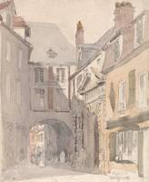David Cox~Place St. Barthsley, Rouen