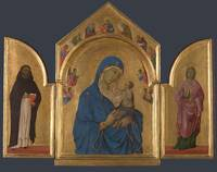 Duccio~The Virgin and Child with Saints Dominic an