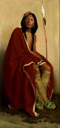 E. Irving Couse~Elk-Foot of the Taos Tribe