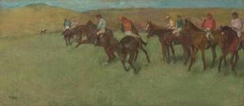 Edgar Degas~At the Races Before the Start