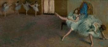 Edgar Degas~Before the Ballet