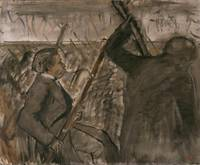 Edgar Degas~Musicians in the Orchestra (Portrait o