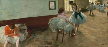 Edgar Degas~The Dance Lesson