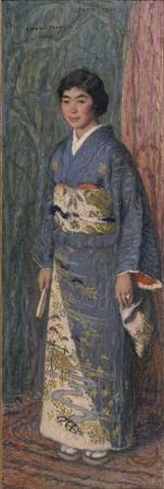 Edmond Aman-Jean~Portrait of a Japanese Woman (Mrs