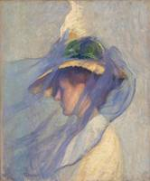 Edmund C. Tarbell~The Blue Veil