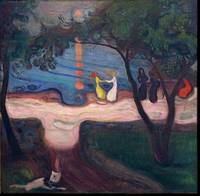 Edvard Munch~Edvard Munch Dance on the Beach from