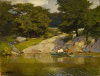 Edward Henry Potthast~Boating in Central Park