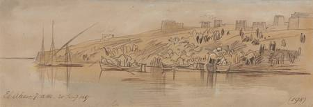 Edward Lear~Luxor, 700 am, 20 January 1867 (198)