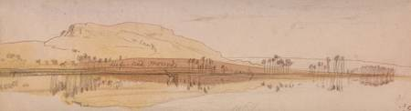 Edward Lear~View on the Nile