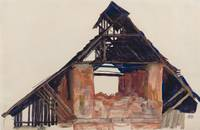 Egon Schiele~Old Gable