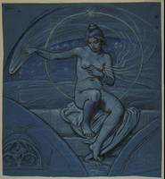 Elihu Vedder~Study for 'Stella Funesta' ('The Evil
