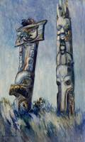 Emily Carr~Haida Totems, Cha-atl, Queen Charlotte