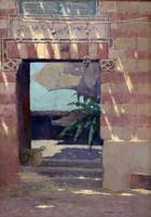 Eric Pape~Sun Dappled Entrance, Egypt