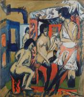 Ernst Ludwig Kirchner~Nudes in the Studio