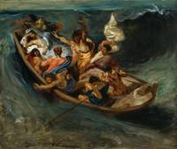 Eugène Delacroix~Christ on the Sea of Galilee