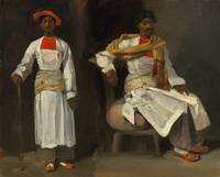 Eugène Delacroix~Two Studies of an Indian from Cal