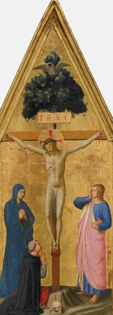 Fra Angelico~Christ on the Cross, the Virgin, Sain