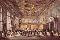 Francesco Guardi~Ceremonial Event in the Doge's Pa