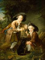Francois-Hubert Drouais~The Comte and Chevalier de