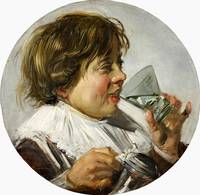 Frans Hals~Laughing Boy with a Wineglass
