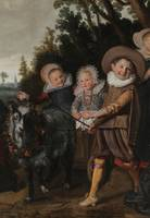 Frans Hals~Three Children with a goat-cart
