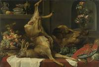Frans Snyders~Still life with a deer, a boar's hea