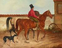 Franz Krüger~Leading horse riders and dog (after F