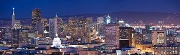 San Francisco at night Panorama