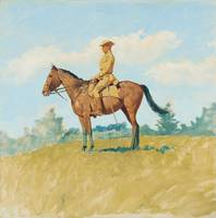 Frederic Remington~General Leonard Wood on Horseba
