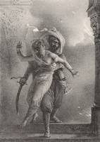 Horace Vernet~Conrad Saves Gulnare from the Fire