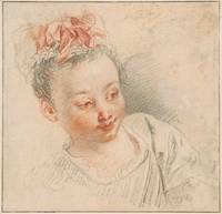 Jean-Antoine Watteau~Head of a Girl in Cap