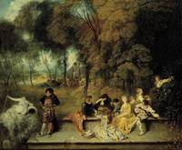 Jean-Antoine Watteau~Pleasures of Love