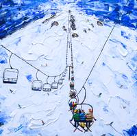 Chair Lift Ski Painting from Mammoth