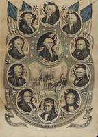 Nathaniel Currier~Lithograph, The Presidents of th