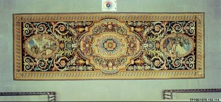 Savonnerie manufactory, Charles Le Brun~Carpet wit