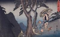 Hiroshige~Act V Yoichibei, Father of Okaru, Being